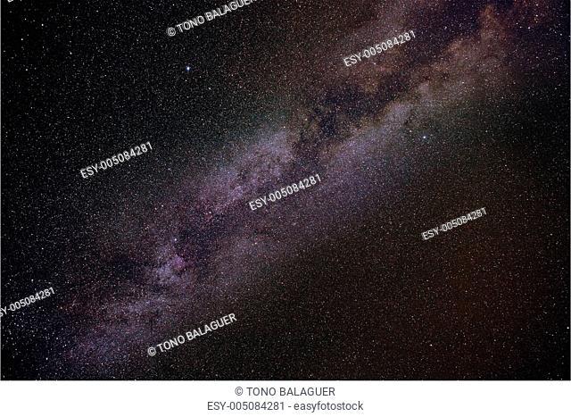 Milky way stars in summer night