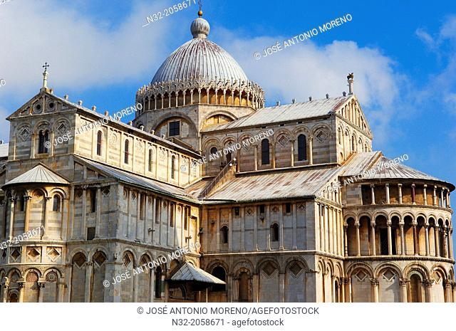 Pisa, Cathedral, Duomo, Piazza del Duomo, Cathedral Square, Campo dei Miracoli, UNESCO world heritage site, Tuscany, Italy