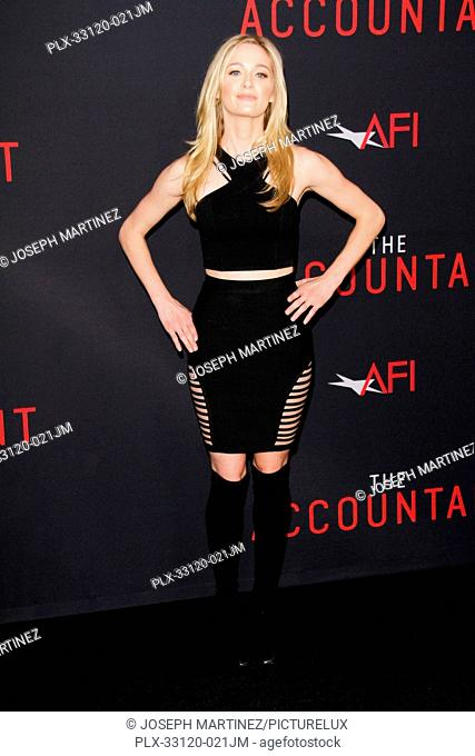 Greer Grammer at the World Premiere of Warner Bros. Pictures' The Accountant held at the TCL Chinese Theater in Hollywood, CA, October 10, 2016