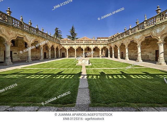 Patio de las Escuelas Menores (Monior Schools), University of Salamanca, Salamanca City, Spain, Europe