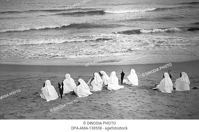 Nuns at Marina Beach ; Chennai ; India