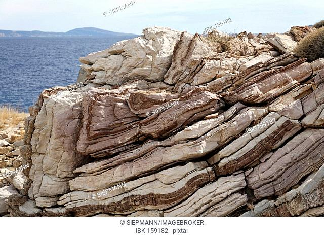 Rock formation on Cape Melissa, Agios Pavlos, Southern Crete, Greece