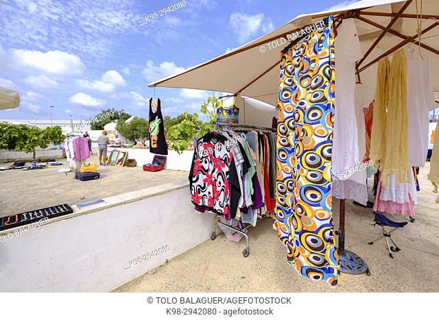 Flea market, Sant Francesc Xavier, Formentera, Balearic Islands, Spain