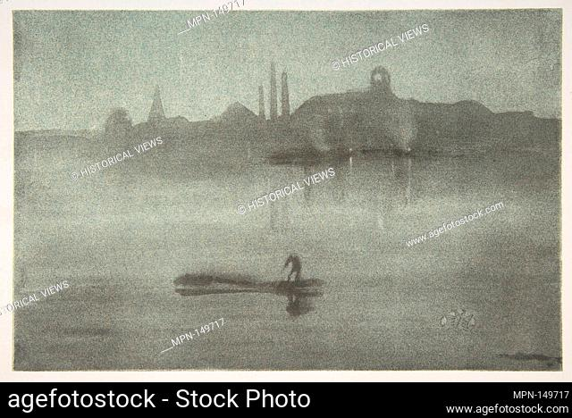 Nocturne (Nocturne: The Thames at Battersea). Artist: James McNeill Whistler (American, Lowell, Massachusetts 1834-1903 London); Date: 1878; Medium: Lithotint...