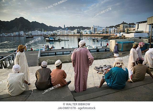 Oman, Muscat, Mutrah, Morning at the Mutrah Fish Market