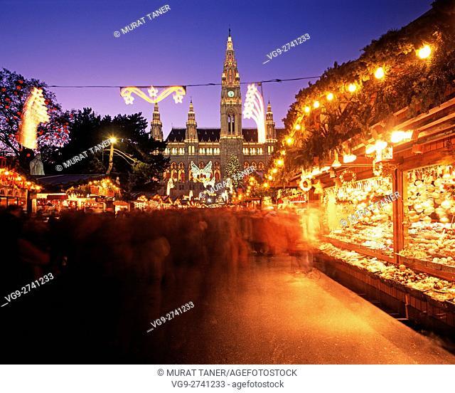 Viennese Christmas Market. Vienna, Austria