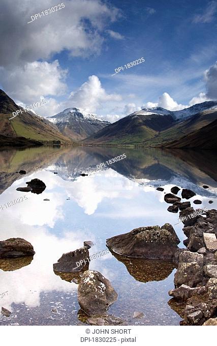 Mountains and lake, Lake District, Cumbria, England