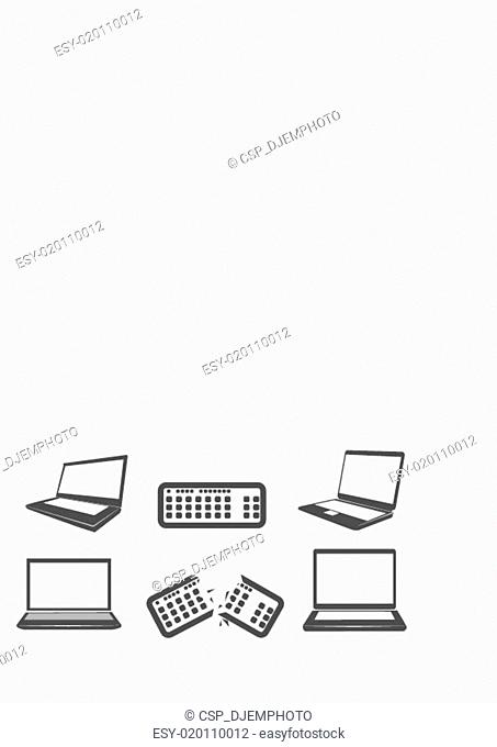 Illustration of computer icons