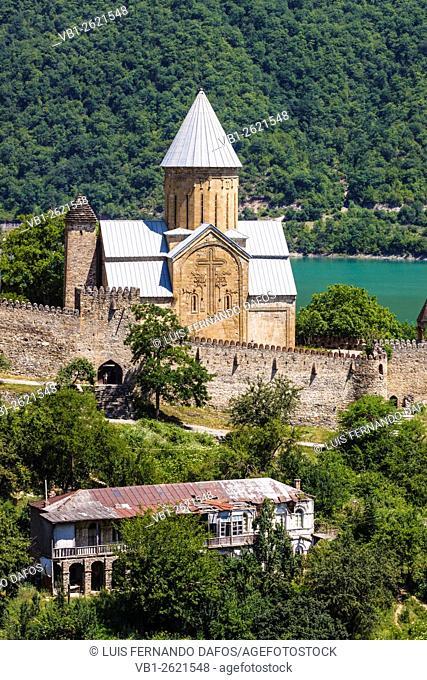 Church of the Assumption, (Ghvtismshobeli) Ananuri fortress, Georgia