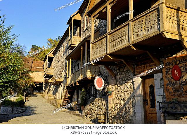 historic Sharambeyan street renovated through the efforts of the Tufenkian Foundation of Cultural Heritage, Dilidjan, Tavush region, Armenia, Eurasia