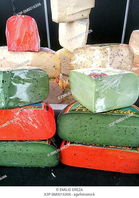 Coloured cheeses for sale