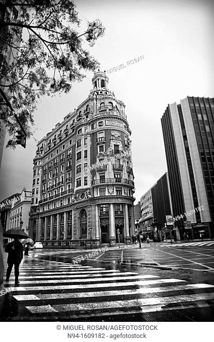 Valencia Bank building in the city of Valencia, Valencia, Spain