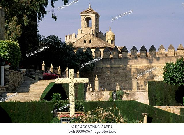 View of the Alcazar of the Christian Kings in Cordoba (UNESCO World Heritage List, 1984-1994), Andalusia. Spain, 13th-15th century