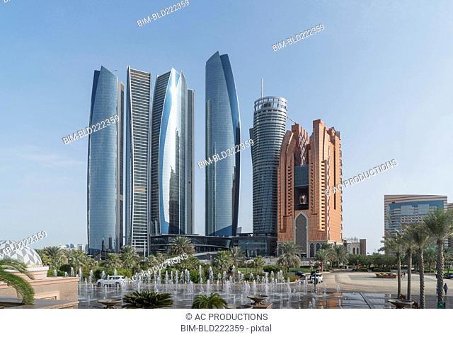 Modern highrises, Abu Dhabi, Abu Dhabi Emirate, United Arab Emirates