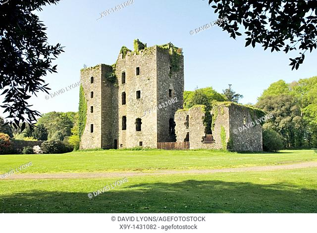 The ruins of the 14th C  Castle Kennedy near Stranraer in the Dumfries and Galloway region of Scotland, UK