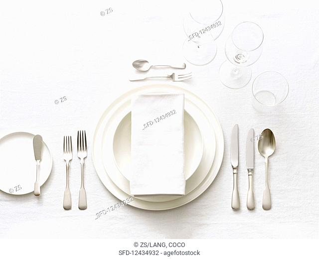 A white place setting