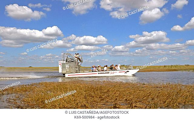 Airboat rides. Everglades National Park. Florida (USA)