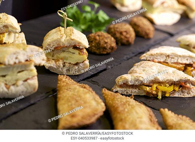 forefront of a group of sandwiches