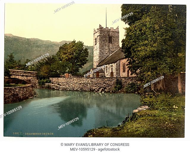 Grasmere Church, Lake District, England. Date between ca. 1890 and ca. 1900