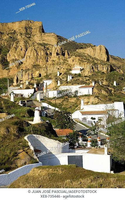 Troglodytic neighbourhood, Guadix. Granada province, Andalucia, Spain