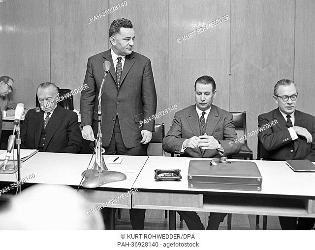 Shortly after Chancellor Konrad Adenauer's return from Paris on the 23rd of January in 1963, where Adenauer and Charles de Gaulle had signed the Elysee-Treaty...