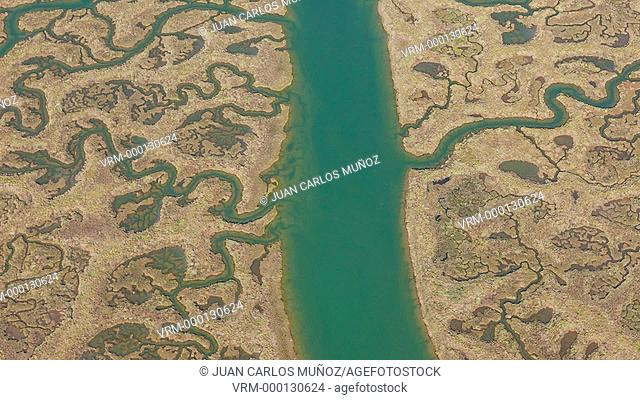 Aerial view of Cadiz mashland
