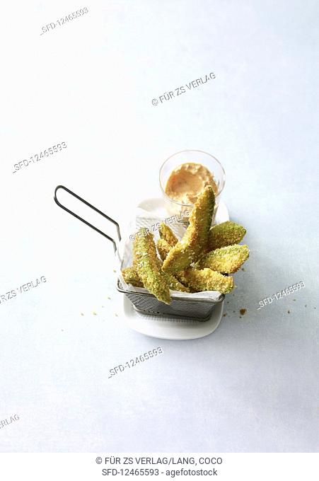 Faux chips with an ajvar dip