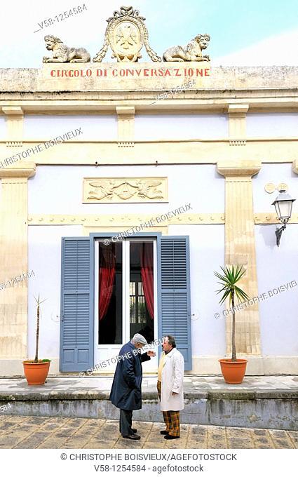 Italy, Sicily, World Heritage Site, Ragusa, Old Town Ragusa Ibla, Circolo di Conversazione Exclusive club of the local elite