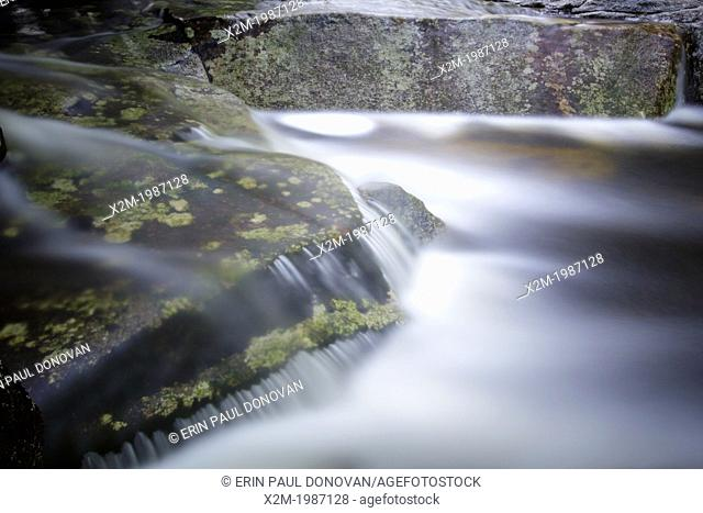 Harvard Brook in the White Mountains, New Hampshire USA during the spring months