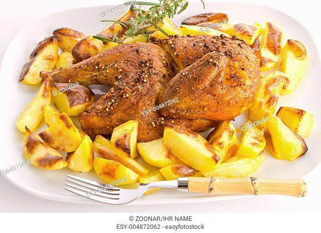 hhnchen braten mit Back-Kartoffeln