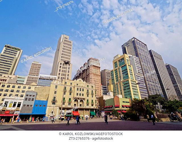 Brazil, State of Sao Paulo, City of Sao Paulo, View of the high rise building in the city center