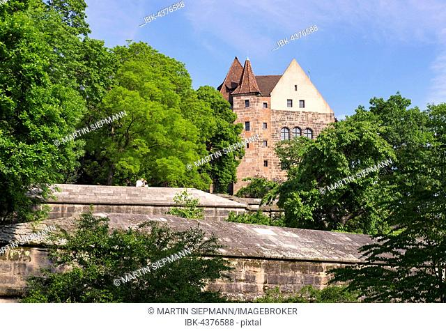 Imperial Castle and Great Bastion, Nuremberg, Middle Franconia, Franconia, Bavaria, Germany