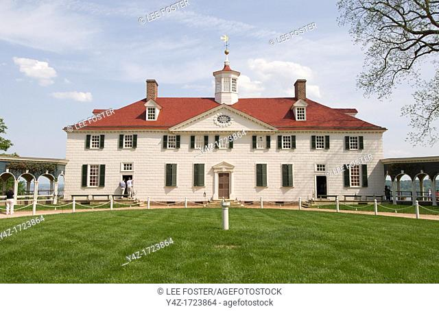 Washington DC, USA, George Washington's historic estate at Mount Vernon