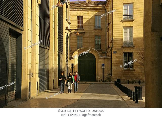 Rue Arnaud Miqueu in old town, Bordeaux, Gironde, Aquitaine, France