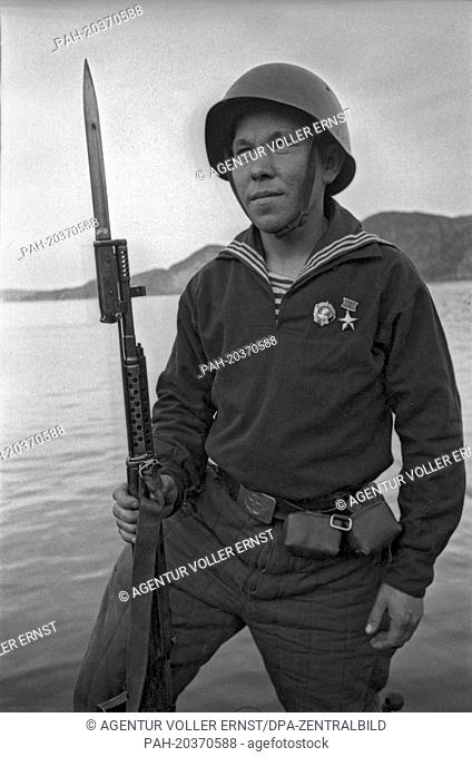 A Soviet soldier of the Red Army (Red Fleet), photographed in Murmansk in Summer 1942. Photo: Yevgeny Khaldei. - Murmansk/Russia