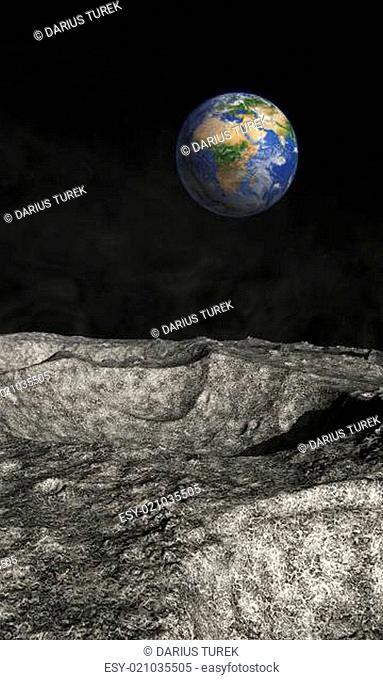 Blick auf unsere Erde