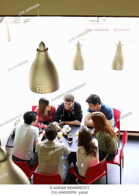 Group of teenagers in cafe