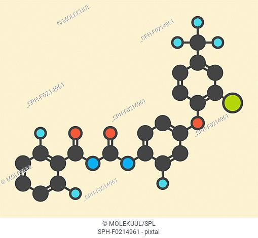 Flufenoxuron insecticide molecule