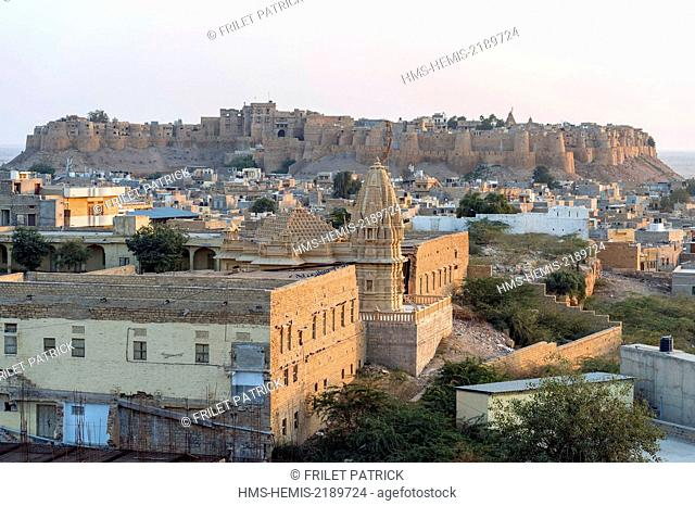 India, Rajasthan state, hill fort of Rajasthan listed as World Heritage by UNESCO, Jaisalmer, the Fort