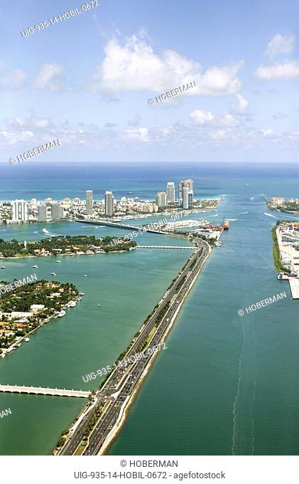 Road to Miami Beach, Florida