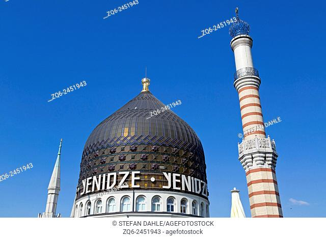 Dome of the Restaurant Yenidze in Dresden, Saxony, Germany