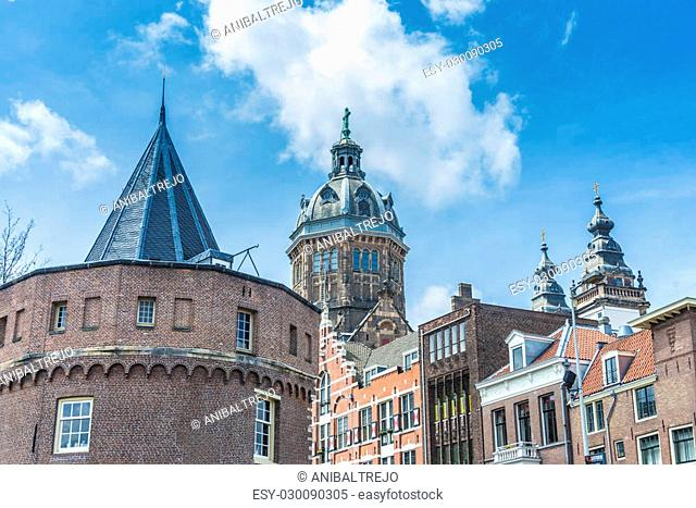 Church dedicated to Saint Nicholas, patron saint of Amsterdam in Netherlands