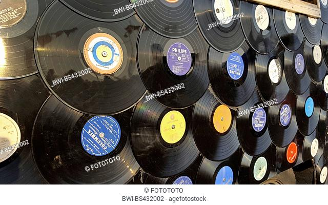 vinyl discs as car surface