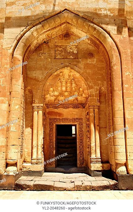 Architectural detai of the 18th Century Ottoman architecture of the Ishak Pasha Palace Anatolia eastern Turkey.