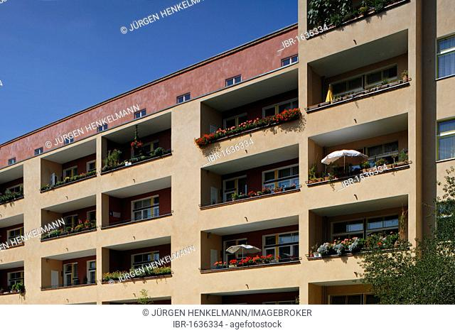 Wohnstadt Carl Legien residential area, Berlin Modernism Housing Estates, UNESCO World Heritage Site, built in 1928-1930 by Bruno Taut and Franz Hillinger