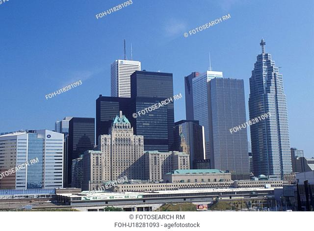skyline, Toronto, Canada, Ontario, Skyline of downtown Toronto