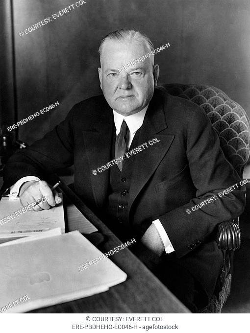 Former President Herbert Hoover 1874-1964, U.S. President 1929-1933, circa 1935