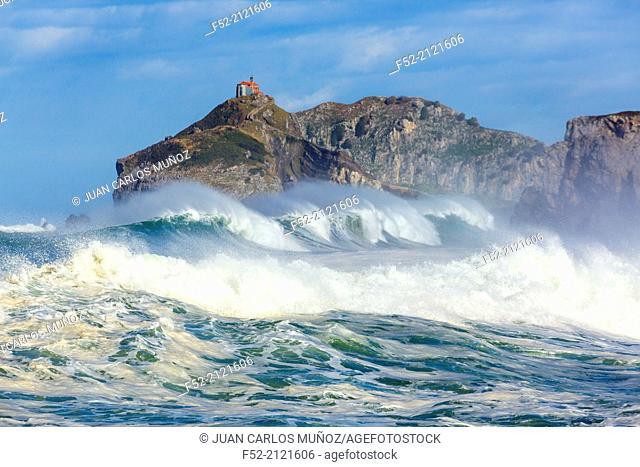 San Juan de Gaztelugatxe, Cantabrian Sea, Bizkaia, Basque Country, Spain, Europe