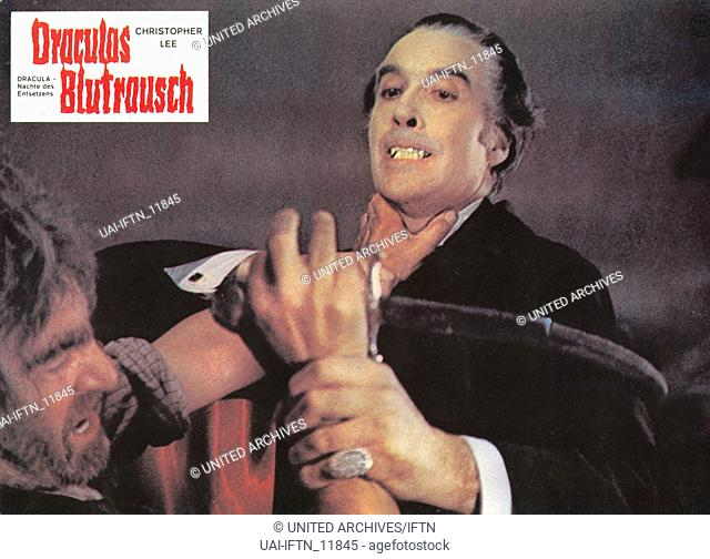 Scars Of Dracula, aka: Dracula - Nächte des Entsetzens, Großbritannien 1970, Regie: Roy Ward Baker, Darsteller: Christopher Lee