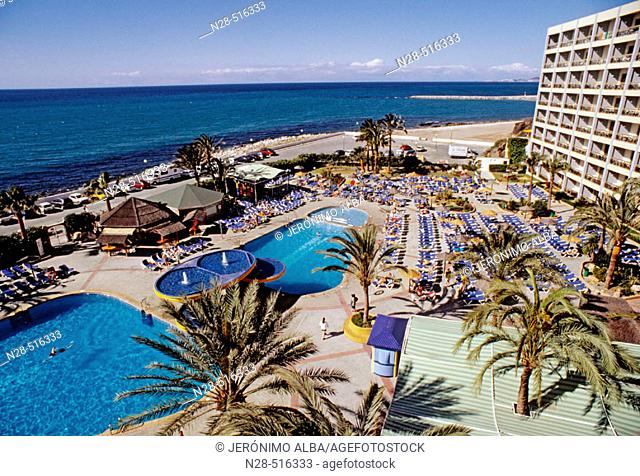 'Sunset Beach Hotel' Benalmádena on the Costa del Sol. Malaga. Andalucia. Spain